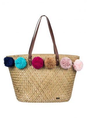 Pretty Love Straw Beach Bag