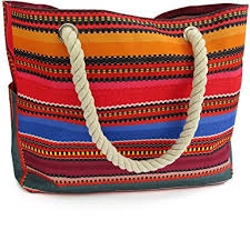 Baja Beach Bag Waterproof Canvas Tote, Large