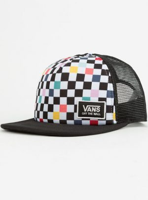 VANS Beach Bound Party Checker Womens Trucker Hat