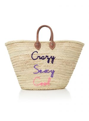 Shorty Embroidered Straw Tote