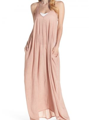 V-Back Cover-Up Maxi Dress