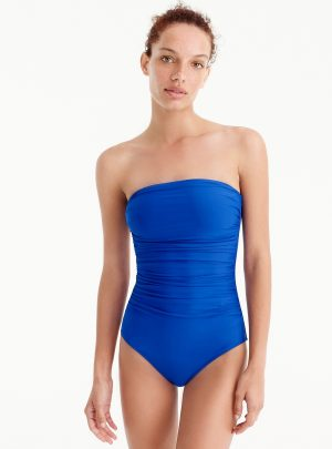 Ruched bandeau one-piece