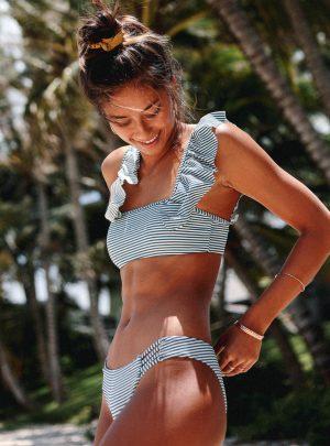 Sea Rinse Ruffle Tank Bikini Top